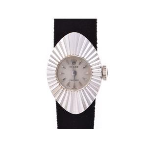 中古 ロレックス カメレオン プレシジョン アーモンド WG 手巻き ベルト4本 レディース 腕時計 ROLEX
