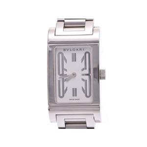 中古 ブルガリ レッタンゴロ39 SS 白文字盤 クオーツ 腕時計 メンズ レディース BVLGARI