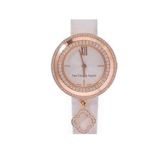 中古 ヴァンクリーフ&アーペル チャーム ダイヤ巻き クオーツ 箱 ギャラ レディース 腕時計 Van Cleef&Arpels