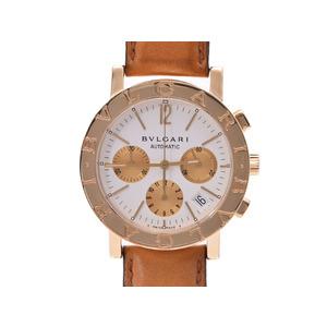中古 ブルガリ ブルガリブルガリ BB38GLCH YG/革 白文字盤 自動巻 メンズ 腕時計 BVLGARI