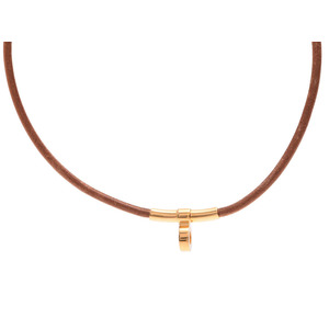 Hermes Women's Casual Choker Necklace (Brown)