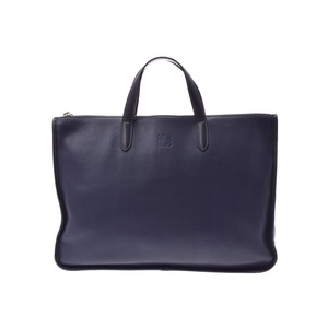 Loewe Women's Leather Briefcase Navy