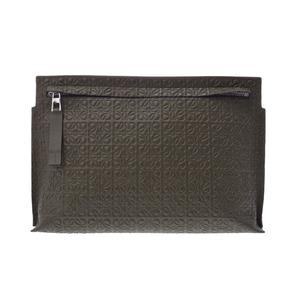 Loewe Women's Leather Clutch Bag,Pouch Khaki