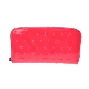 Jimmy Choo Women's Enamel Leather Long Wallet (bi-fold) Pink