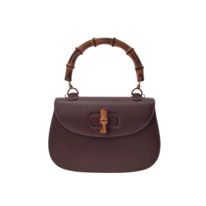 Gucci Women's Bamboo,Leather Handbag Brown
