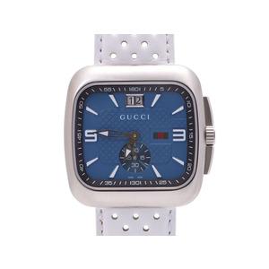 中古 グッチ クーペ 131.3 SS/革 青文字盤 箱 空ギャラ クオーツ メンズ 腕時計 未使用 GUCCI
