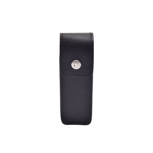 Hermes Chewing Gum Case Unisex Epsom Leather Pouch Black