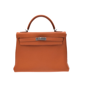 Hermes Kelly Women's Togo Leather Handbag Orange,Potiron