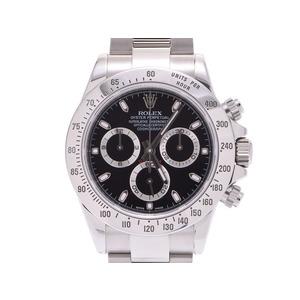 中古 ロレックス デイトナ116520 黒文字盤 ランダム番 SS 箱 ギャラ 自動巻 メンズ 腕時計 ROLEX