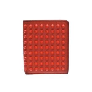 Christian Louboutin Women's Studded Wallet (bi-fold) Orange/Red