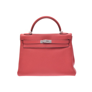 Hermes Kelly Women's Taurillon Clemence Leather Handbag Bougainvillier