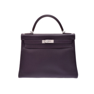 Hermes Kelly Women's Epsom Leather Handbag Raisin