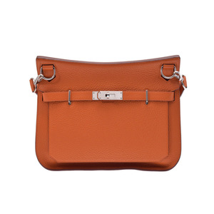 Hermes Women's Taurillon Clemence Leather Handbag,Shoulder Bag Orange