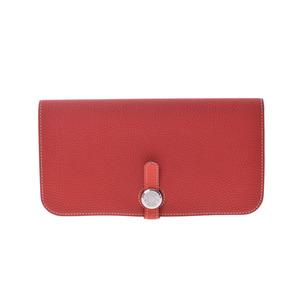 Hermes Dogon Women's Togo Leather Long Wallet (bi-fold) Geranium