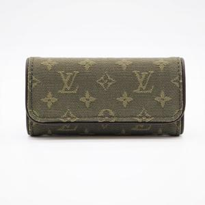 Louis Vuitton Monogram Mini Unisex Canvas Key Case Khaki ミュルティクレ4 M92431
