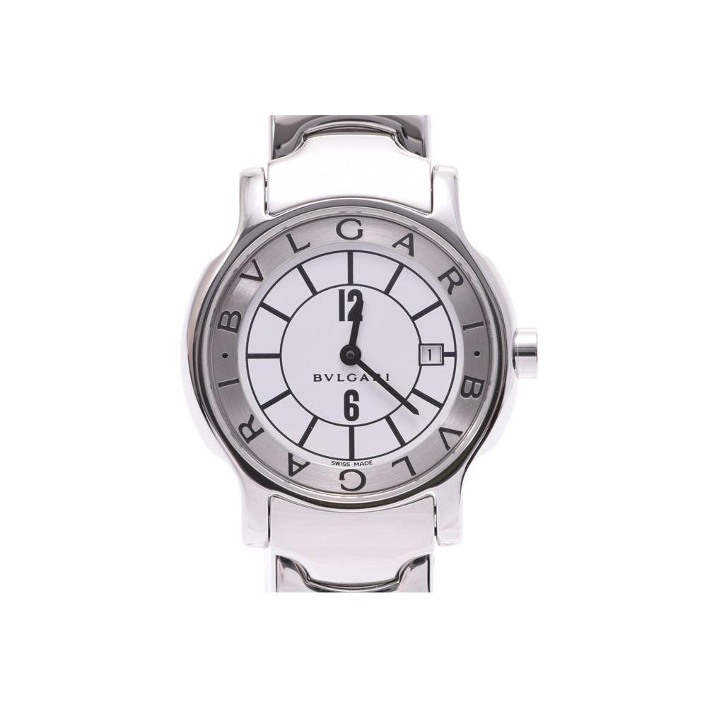 on sale c9849 79f8b Used Bulgari Sorotenpo 29 Ss White Dial St29s Quartz Watch ...