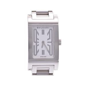 中古 ブルガリ レッタンゴロ39 SS 白文字盤 クオーツ 腕時計 メンズ レディース BVLGARI◇