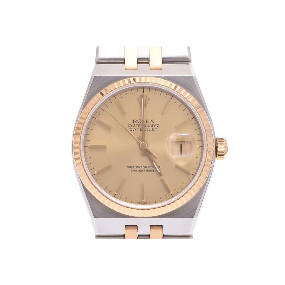 中古 ロレックス オイスタークォーツ17013 YG/SS シャンパン文字盤 メンズ クオーツ 腕時計 ROLEX◇