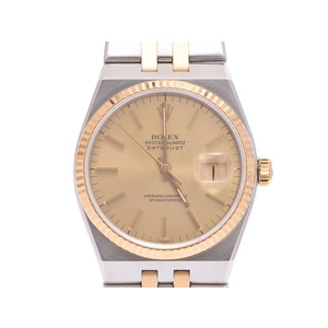 Used Rolex Oyster Quartz 17013 Yg / Ss Champagne Dial Board Men's Wrist Watch ◇
