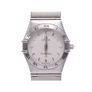 Second Hand Omega Constellation Mini Ss Ivory Dial Quartz Ladies Watch ◇