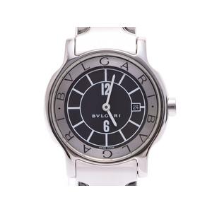 中古 ブルガリ ソロテンポ29 SS 黒文字盤 箱 ギャラ クオーツ レディース 腕時計 BVLGARI◇