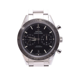Used Omega Speedmaster 57 Chronograph 331.10.42.51.01.001 Ss Black Letter Board Back Scalar Box Men's Automatic Winding Watch ◇