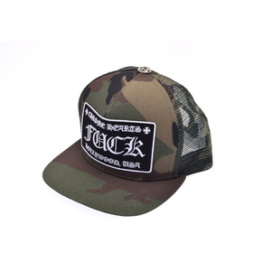 New Article Chrome Hearts Trucker Cap Fuck Patch Camouflage ◇