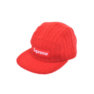 不特定 新品 シュプリーム FITIED CABLE Knit Camp Cap ボックスロゴ 赤 S/M Supreme◇