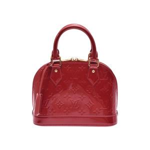 Louis Vuitton Vernis M91606 Alma BB Women's Handbag Monogram,Pomme D'amour