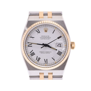 Used Rolex Datejust 17013 Yg Ss White Dial Quartz Men's Watch ◇