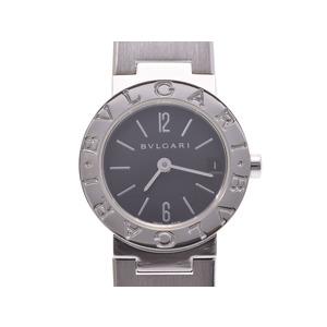 中古 ブルガリ ブルガリブルガリ23 SS 黒文字盤 BB23SS クオーツ レディース 腕時計 BVLGARI◇