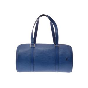 Louis Vuitton Epi M52225 Soufflot Women's Handbag Blue