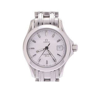 Second Hand Omega Seamaster 2581.21 Ss White Dial Plate Quartz Ladies Watch ◇