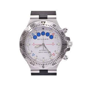 中古 ブルガリ ディアゴノ40プロフェッショナル 300m SS ラバー 箱 ギャラ 自動巻 メンズ 腕時計 BVLGARI◇