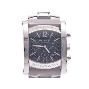 中古 ブルガリ アショーマ44 クロノ SS ブルーグレー系文字盤 AA44SCH 自動巻 メンズ 腕時計 BVLGARI◇