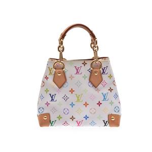 Louis Vuitton Monogram Multicolore M40047 Women's Handbag Blanc,Multi-color,White