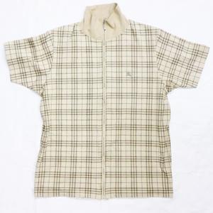 バーバリー(Burberry) メンズ コート・ジャケット (ベージュ) コットン ジップジャケット 半袖