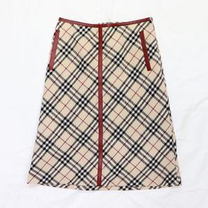 バーバリー(Burberry) レディース カジュアル Aラインスカート ベージュ ブルーレーベル