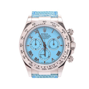 Used Rolex Daytona Beach 116519 P Pocket Box Gala Pass Case Note Pad Cover Serial Tag Wg / Leather Turquoise Dial Automatic Watch Men's ◇