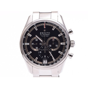 Used Zenith El Primero Chronograph 03.2040.400 Black Letter Board Ss Back Scale Box Gala Automatic Men's Watch ◇