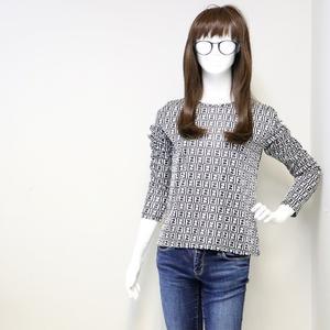 Fendi ズッカ Women's Casual Cutsew Shirt International Standard: S Size Gray