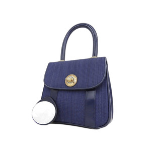 Comtesse Contest Hose Hair Handbag Gold Hardware Navy [20180705]