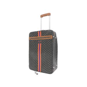 Goyard Goyar Trolley Pm Carry Bag Herringbone Pattern Brown Suitcase Travel [20180710]