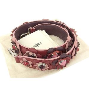 Fendi Fendi Strap Yu Flower Floral Pattern Spike Studs Shoulder Red Series System [20180604]