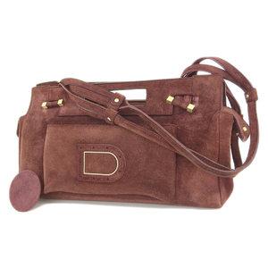 Delvaux Delbow Suede 3way Handbag Shoulder Clutch Red Type Bordeaux [20180712]