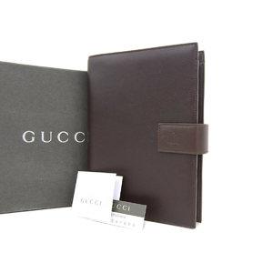 グッチ(Gucci) GUCCI グッチ ダイアリー 手帳カバー レザー こげ茶 ダークブラウン  [20180712]