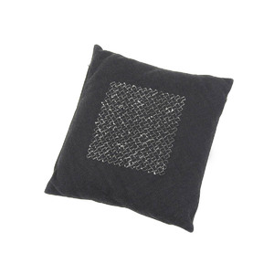 BOTTEGA VENETA ボッテガヴェネタ イントレチャート キャンバス クッション 枕 インテリア 黒 ブラック  [20180604]