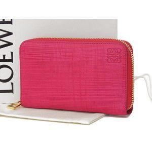 Loewe Loewe Zip Around Wallet Round Zipper Compact Leather Pink [20180528]