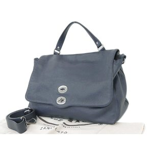 Zanellato Zanerato Postina L Handbag Tote Shoulder 2 Way Leather Navy [20180705]