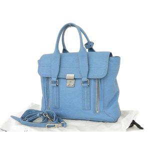 3.1 Phillip Lim Satchel 2way Handbag Shoulder Leather Blue Sky [20180705]